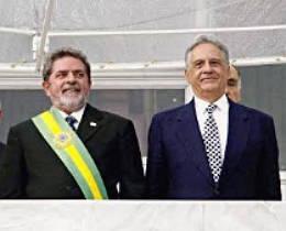 Lula após receber a faixa presidencial de Fernando Henrique