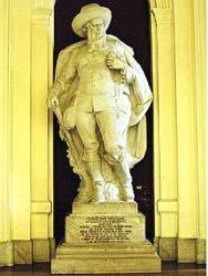 Estátua do bandeirante Fernão Dias no Museu do Ipiranga