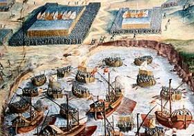 Desembarque das tropas espanholas na baía das Mós, Açores em 1583